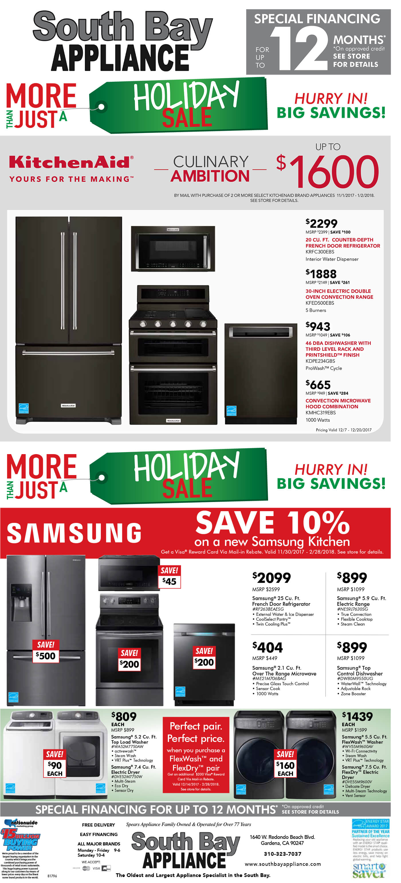 Holiday Sale at South Bay Appliance